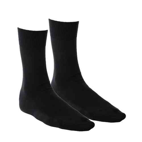 Living Crafts Basic-Socken, 2er Pack (schwarz)