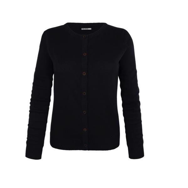 7bd4b7cfbb Melawear Strick Cardigan Damen (schwarz) - Fairticken Fashion. Bio. Fair