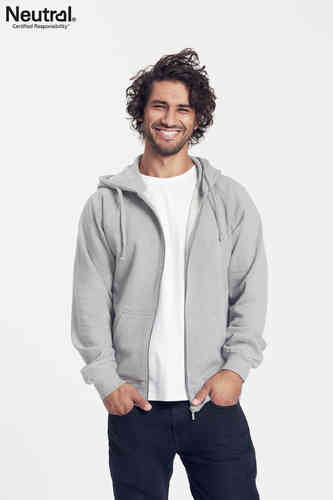 Neutral Hooded Zipper (grau-meliert)