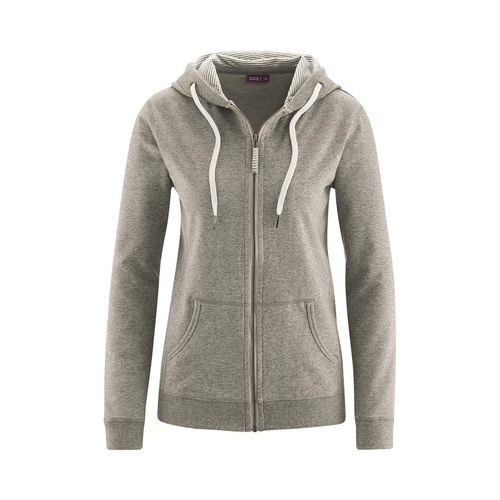 Living Crafts Zipper Jacke Athena (stone grey)