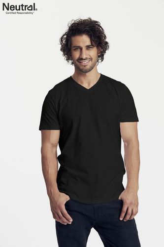 Neutral V-Neck T-Shirt (black)