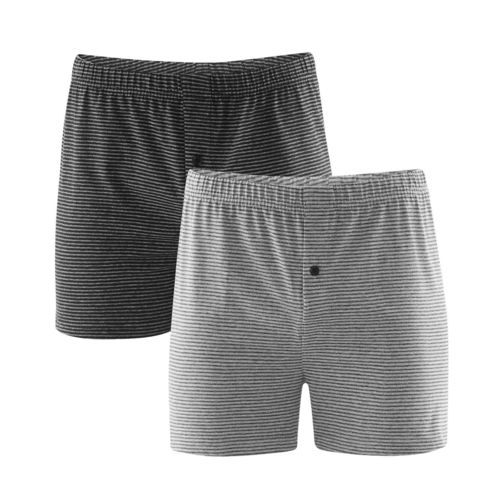 Living Crafts Boxer-Shorts, 2er Pack Ben (stone grey/anthra melange)