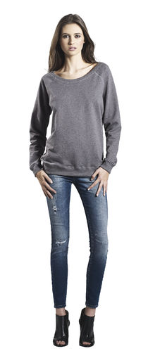 Continental Clothing Earth Positive Women Sweater (dark heather)