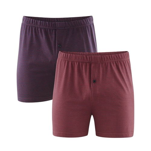 Living Crafts Boxer-Shorts, 2er Pack Ben (dark navy/ruby)