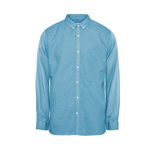 Knowledge Cotton Apparel Leinen/Baumwolle Hemd (heritage blue)