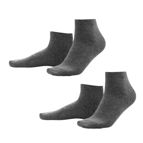 Living Crafts Sneaker-Socken Curt, 2er Pack (anthrazit melange)