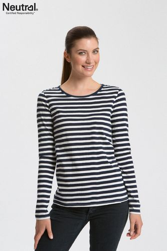 Neutral Longsleeve Women (White/Navy Stripes)