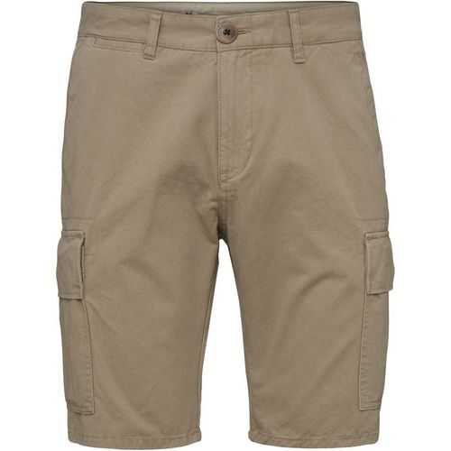 Knowledge Cotton Apparel Cargo Shorts (light feather gray)