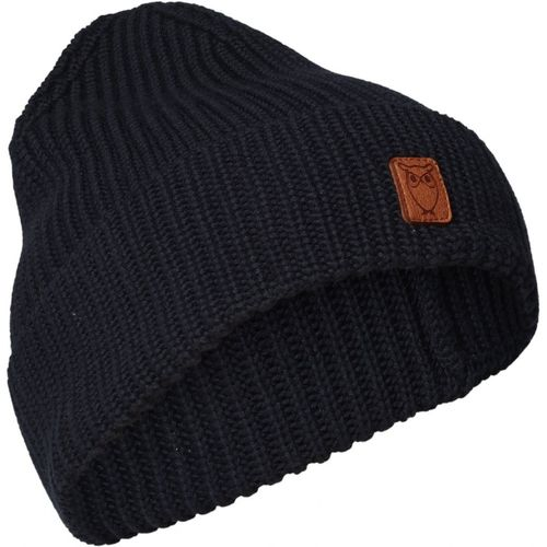 Knowledge Cotton Apparel Leaf ribbing Hat (total eclipse)