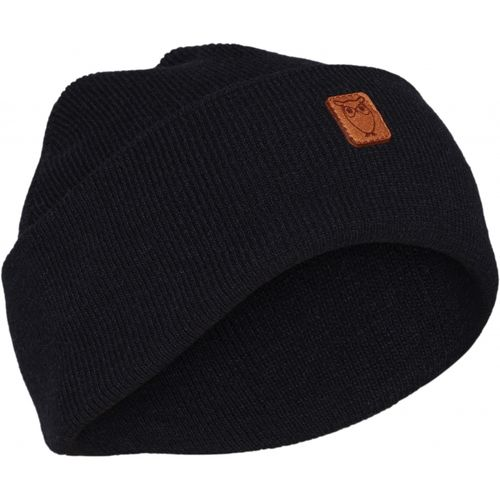 Knowledge Cotton Apparel Leaf Organic Wool Beanie (total eclipse)