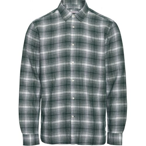 Knowledge Cotton Apparel Larch Checked Shirt (pineneedle)