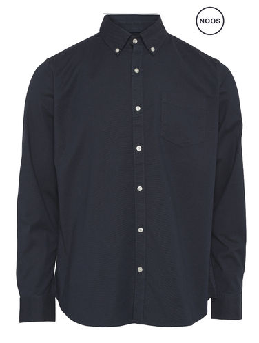 Knowledge Cotton Apparel Elder Oxford Shirt (phantom)