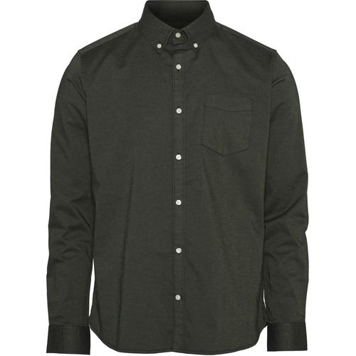 Knowledge Cotton Apparel Elder Oxford Shirt (green forest)