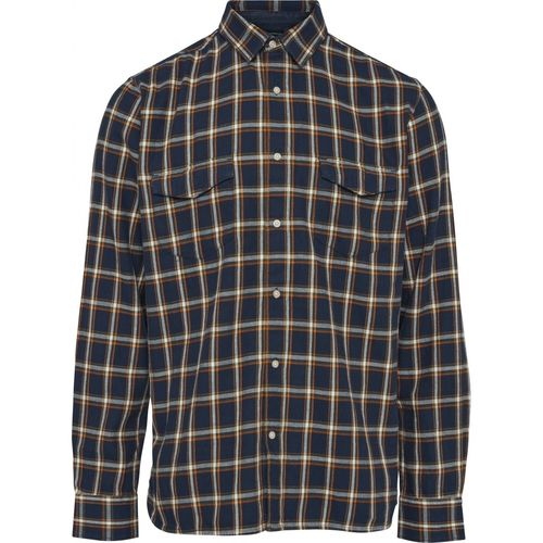 Knowledge Cotton Apparel kariertes Flannel Hemd (total eclipse)