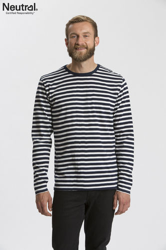 Neutral Longsleeve (White/Navy Stripes)