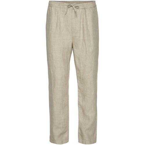 Knowledge Cotton Apparel Weite Leinenhose FIG (light feather gray)