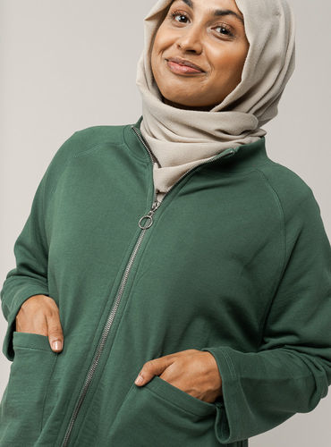 Melawear UMA Damen Sweatshirt-Jacke (bottle green)